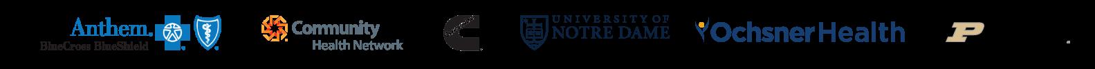 Trusted By Anthem, Community Health Network, Cummins, University of Notre Dame, Ochsner Health and Purdue University