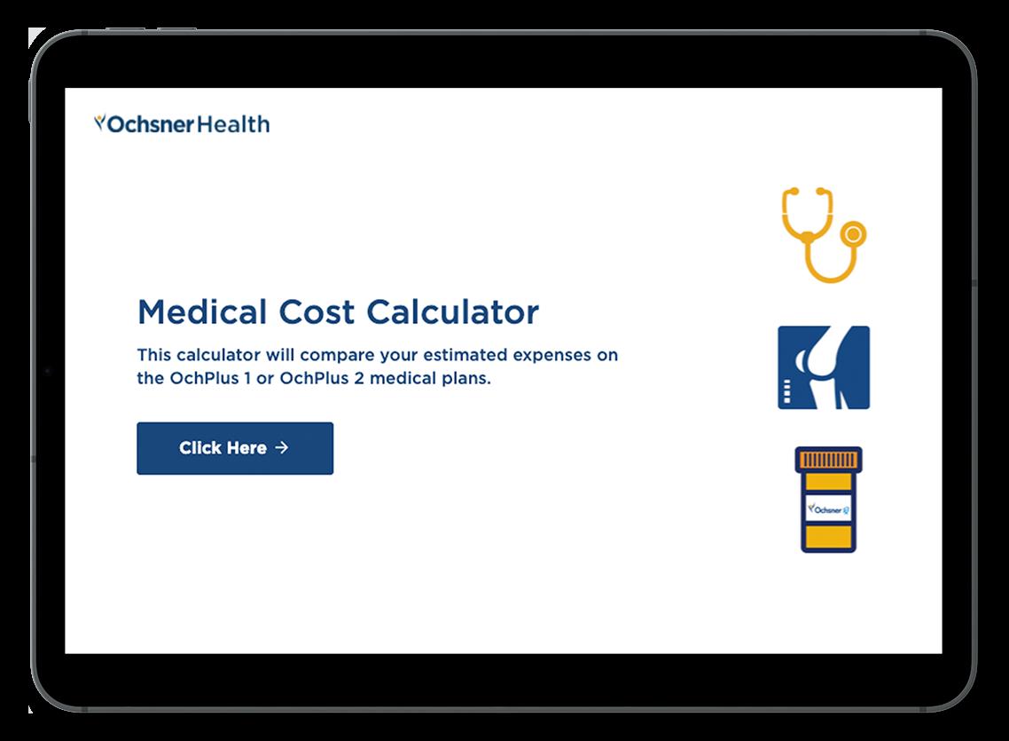Ochsner Health Medical Cost Calculator Example